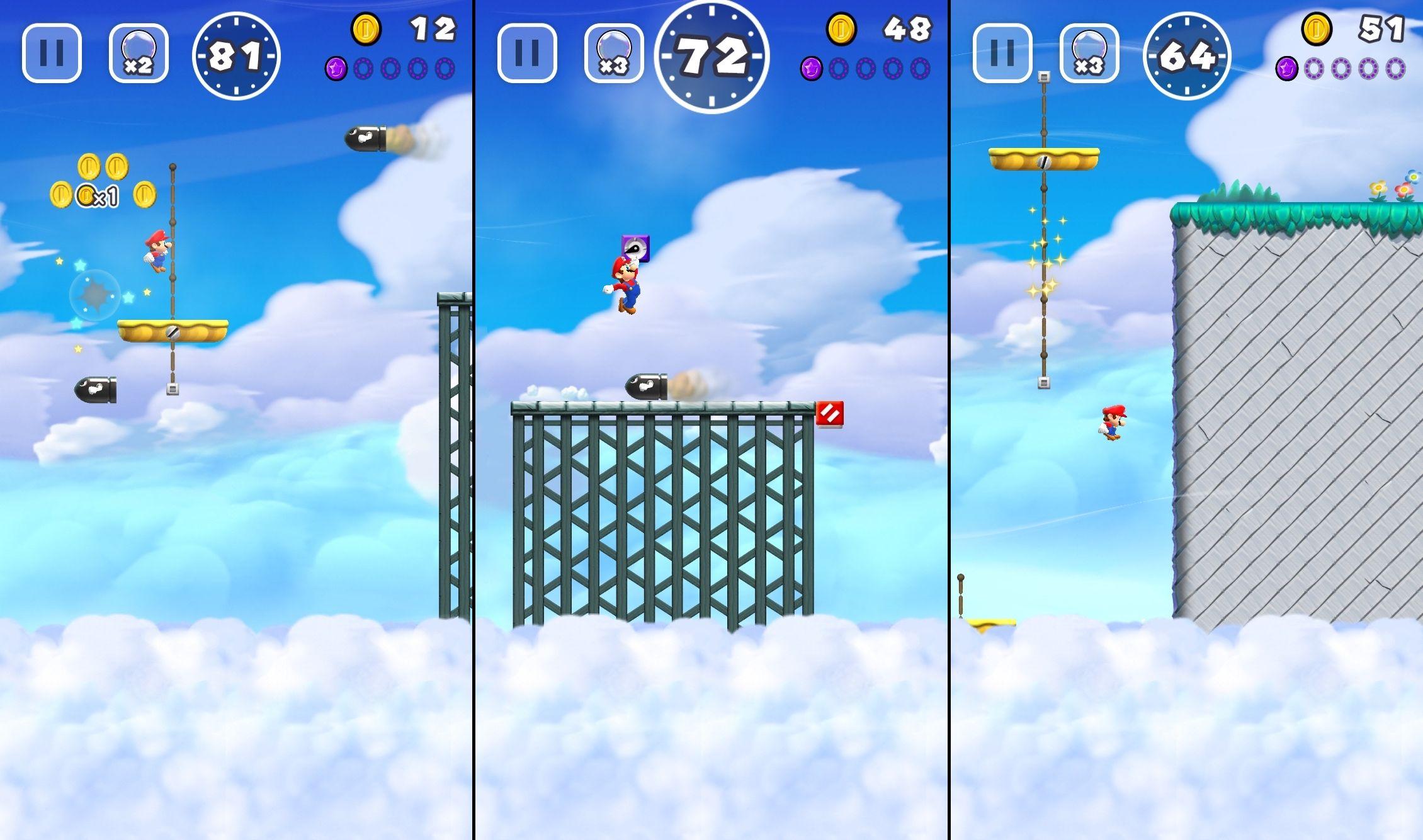 Уровень с желтыми платформами выдаёт несовершенство выбранной механики игры